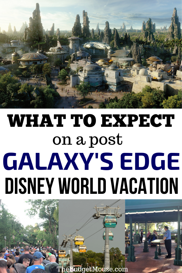 what to expect on a post galaxy's edge disney world vacation pinterest image