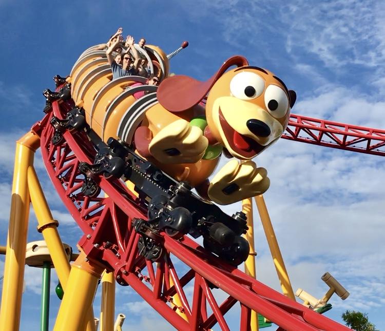 slinky dog dash roller coaster ride