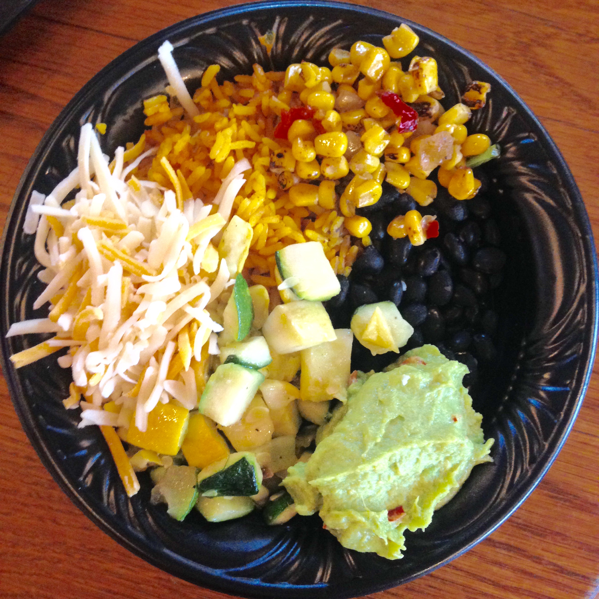 veggie rice bowl at Pecos Bill's