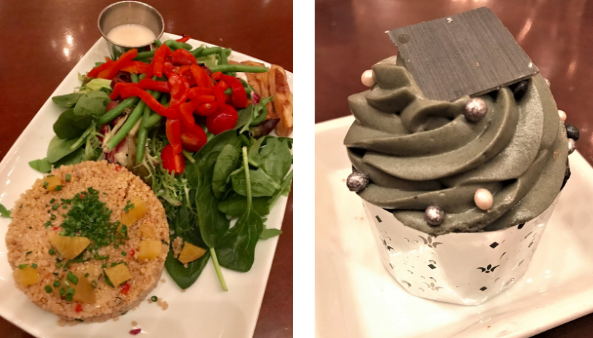 quinoa salad and master's cupcake at be our guest lunch