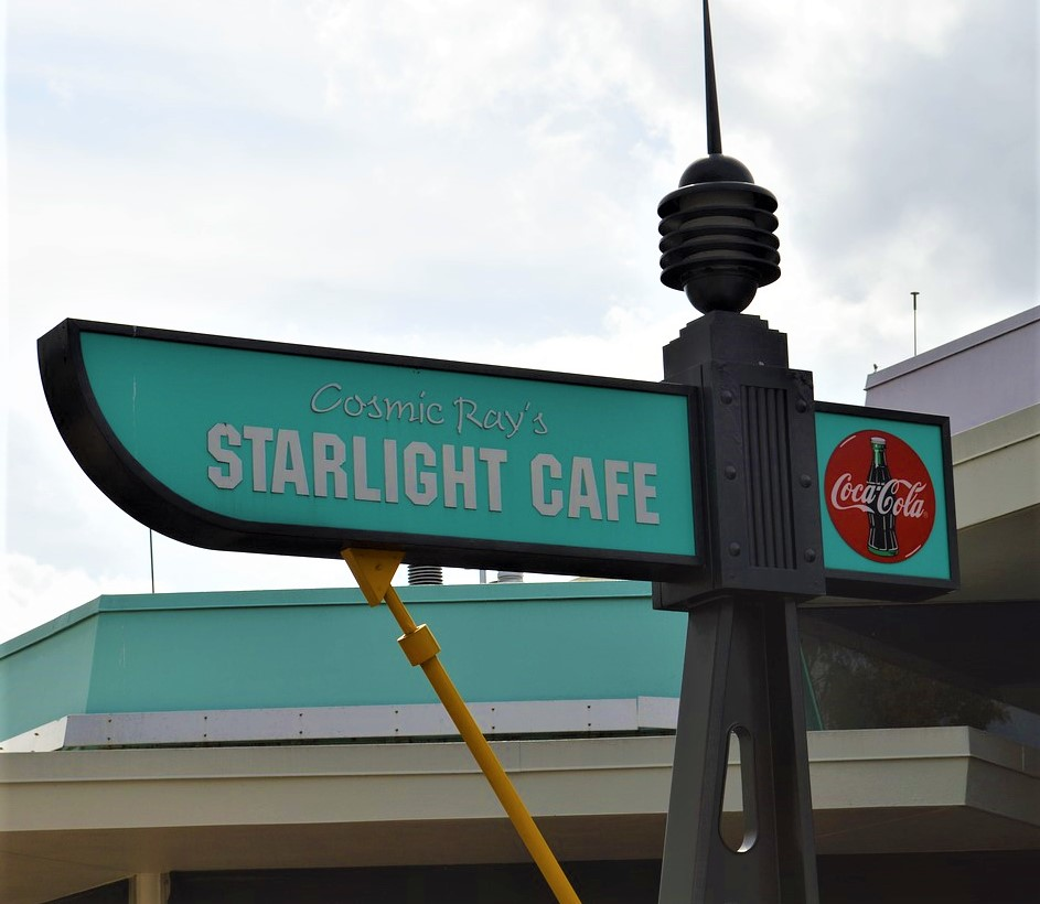 sign for cosmic ray's starlight cafe