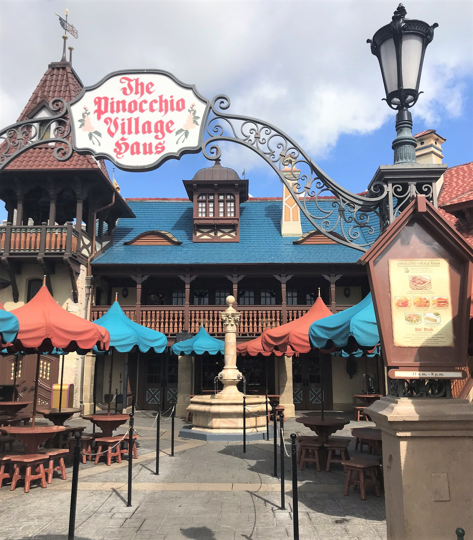 pinocchio village haus front entrance