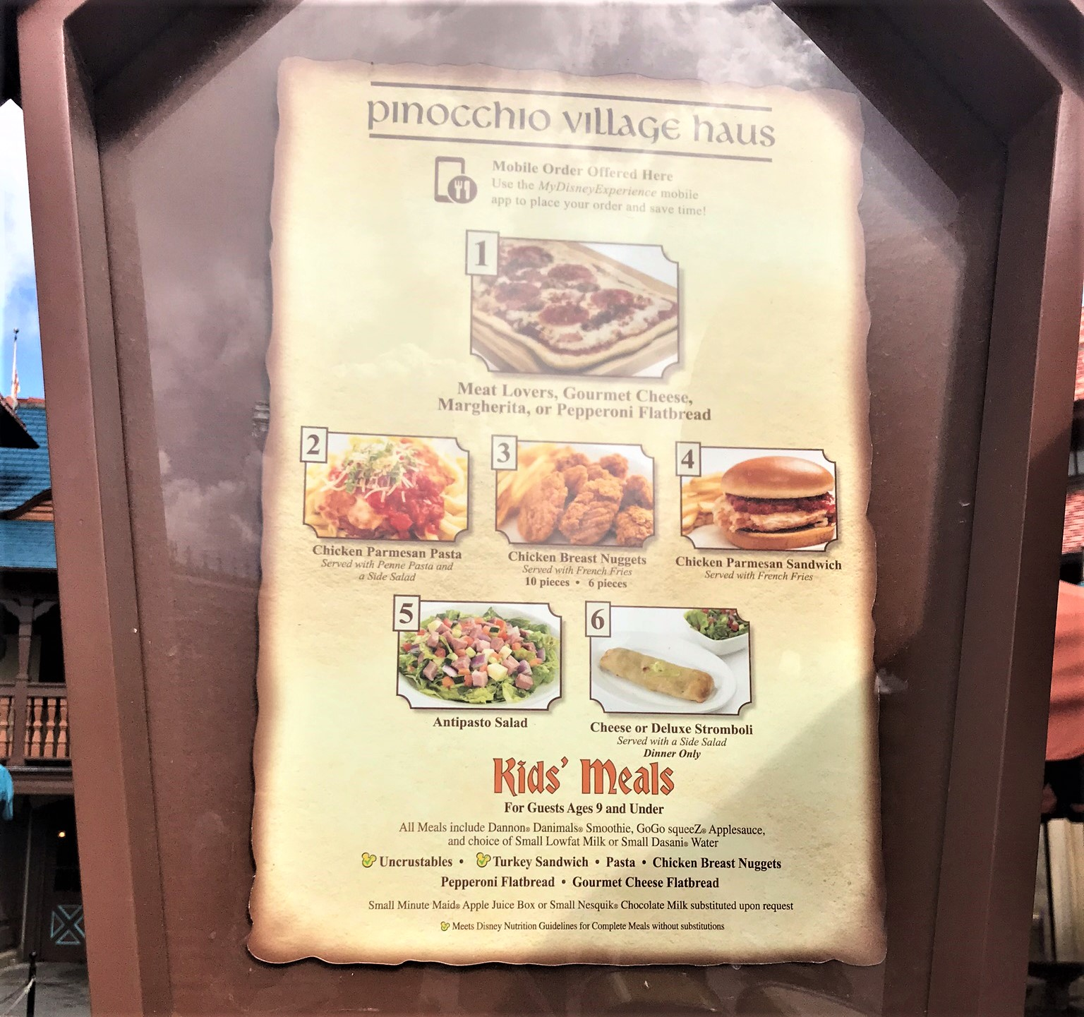 pinocchio village haus menu
