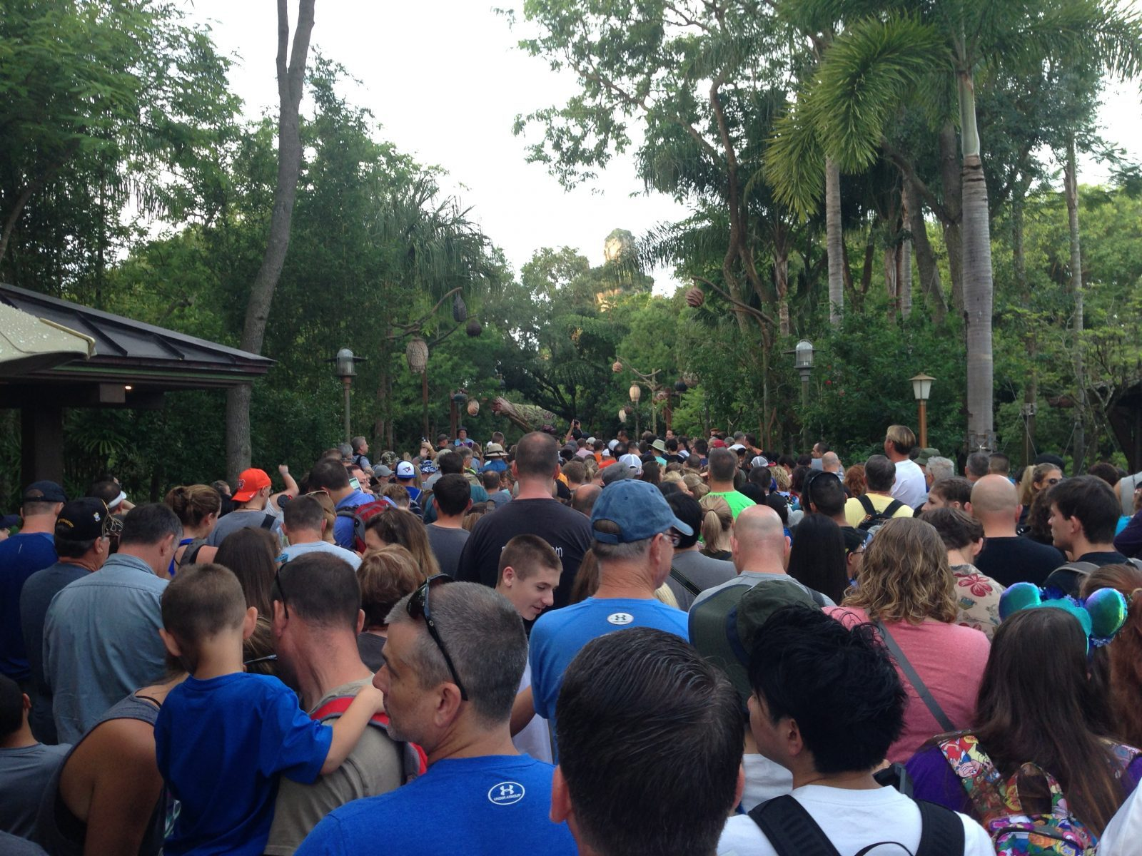 crowd of people trying to get into Pandora after it opened
