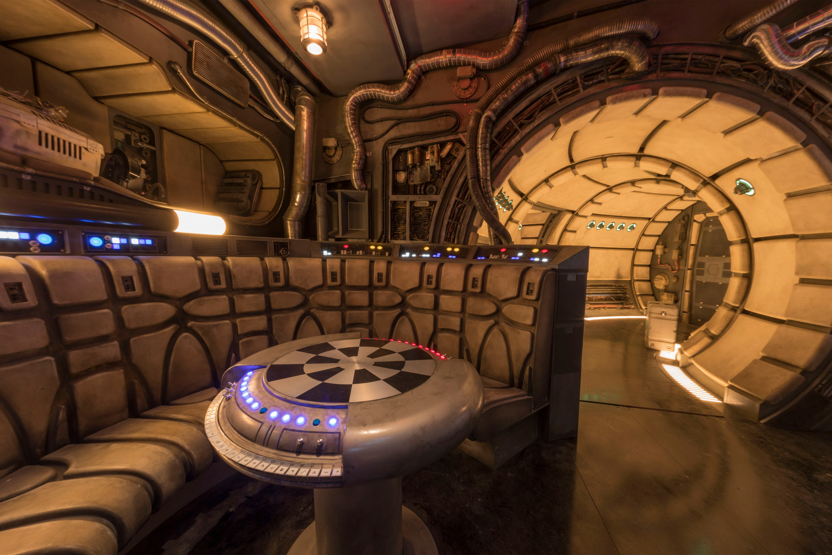 Inside the Millenium Falcon: Smuggler's Run attraction in Galaxy's Edge