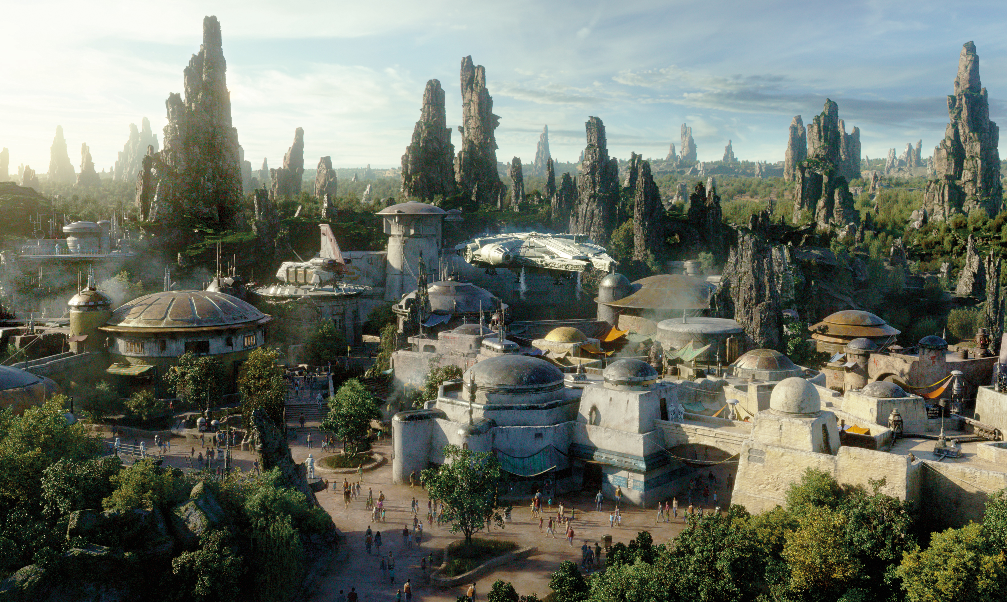 Concept art for Star Wars: Galaxy's Edge