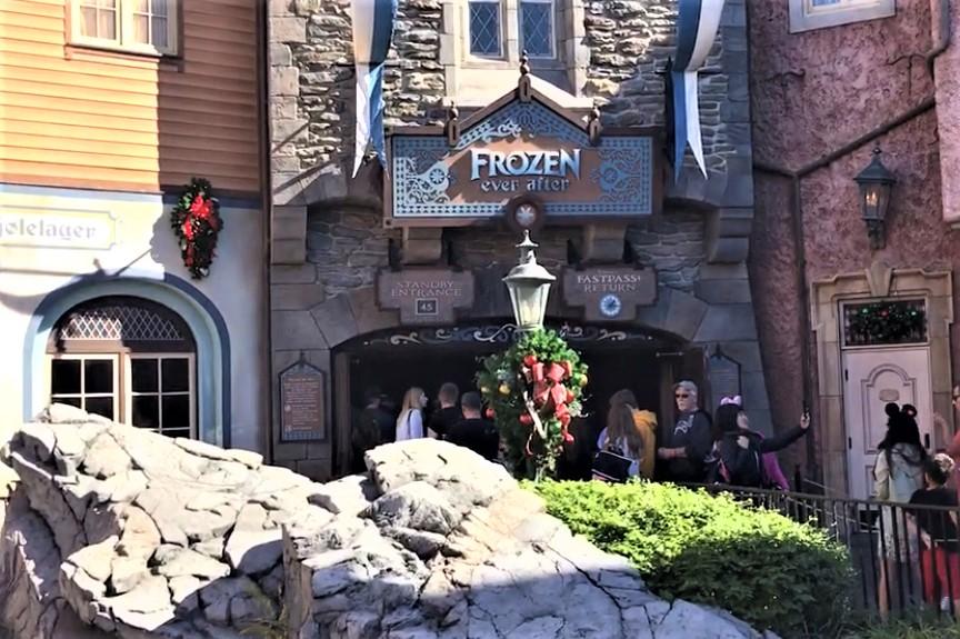frozen ever after entrance