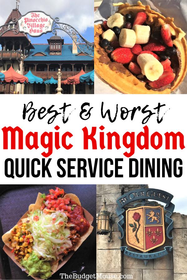 Best quick service options at magic kingdom