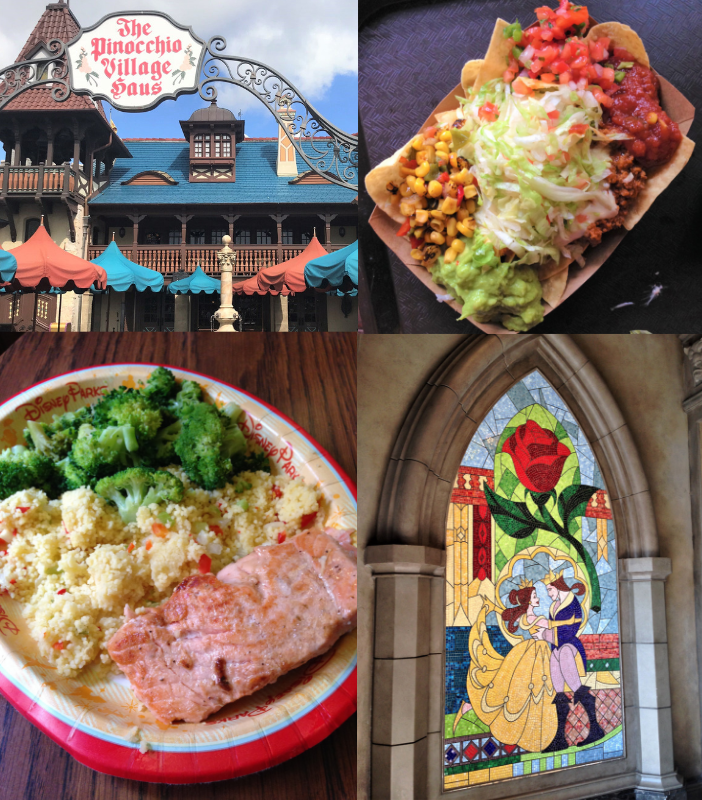 collage of food and restaurants in magic kingdom