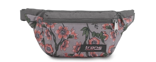 grey floral fanny pack
