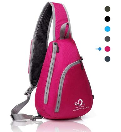 pink sling bag - best backpack for disney world