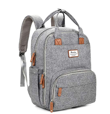 grey back pack