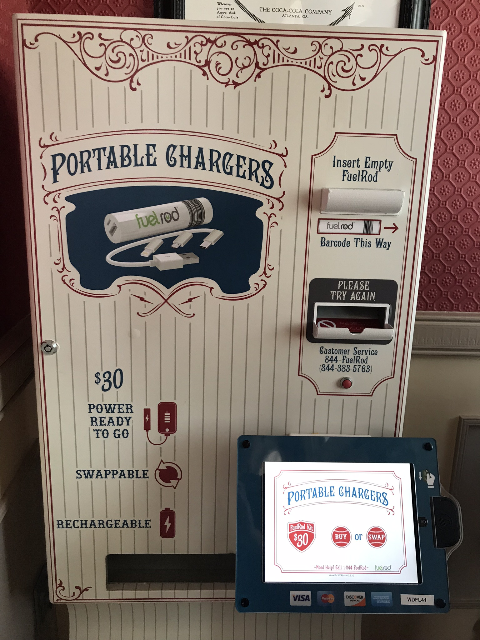 fuelrod disney world kiosk