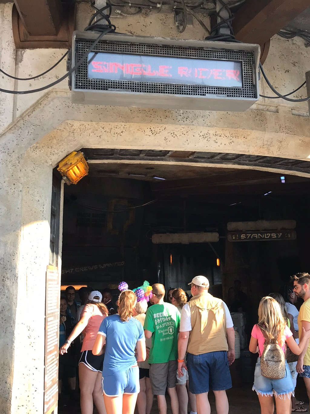 single rider line - hollywood studios fastpass tiers