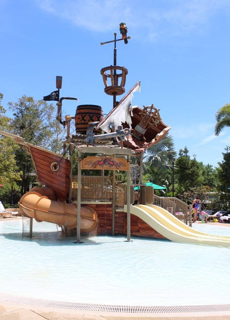 pirate playground and waterslide
