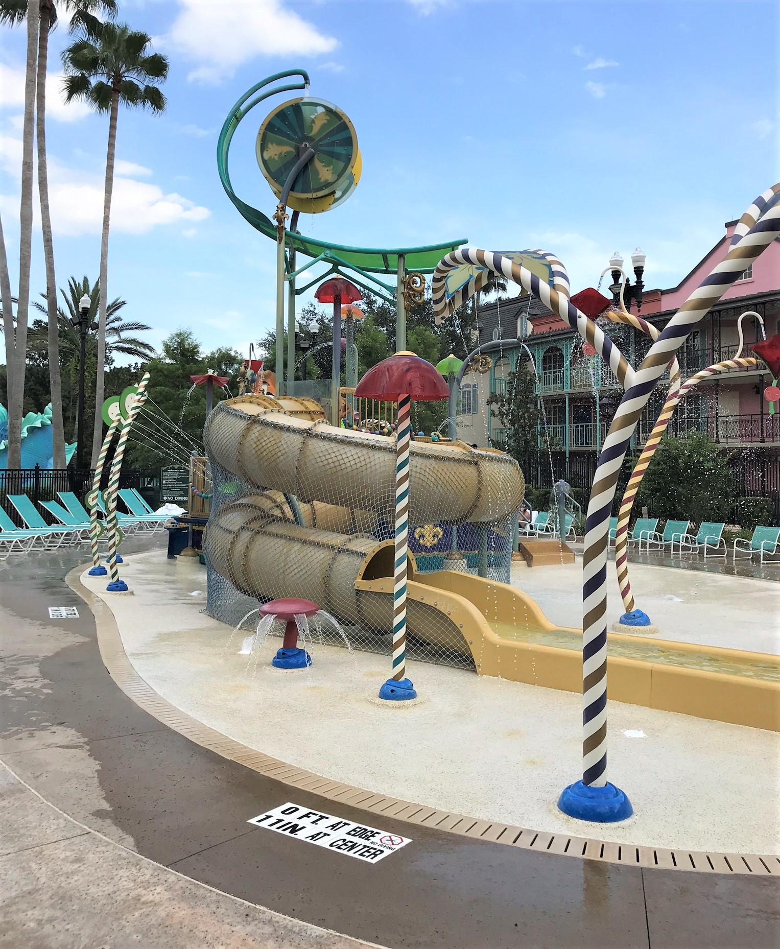 kiddie water playground and slide
