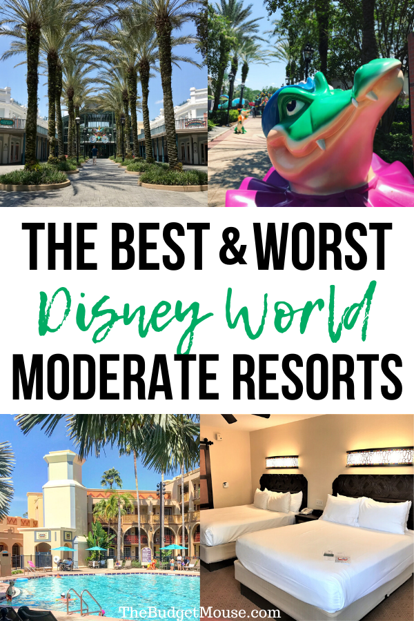 the best and worst disney world moderate resorts pinterest image