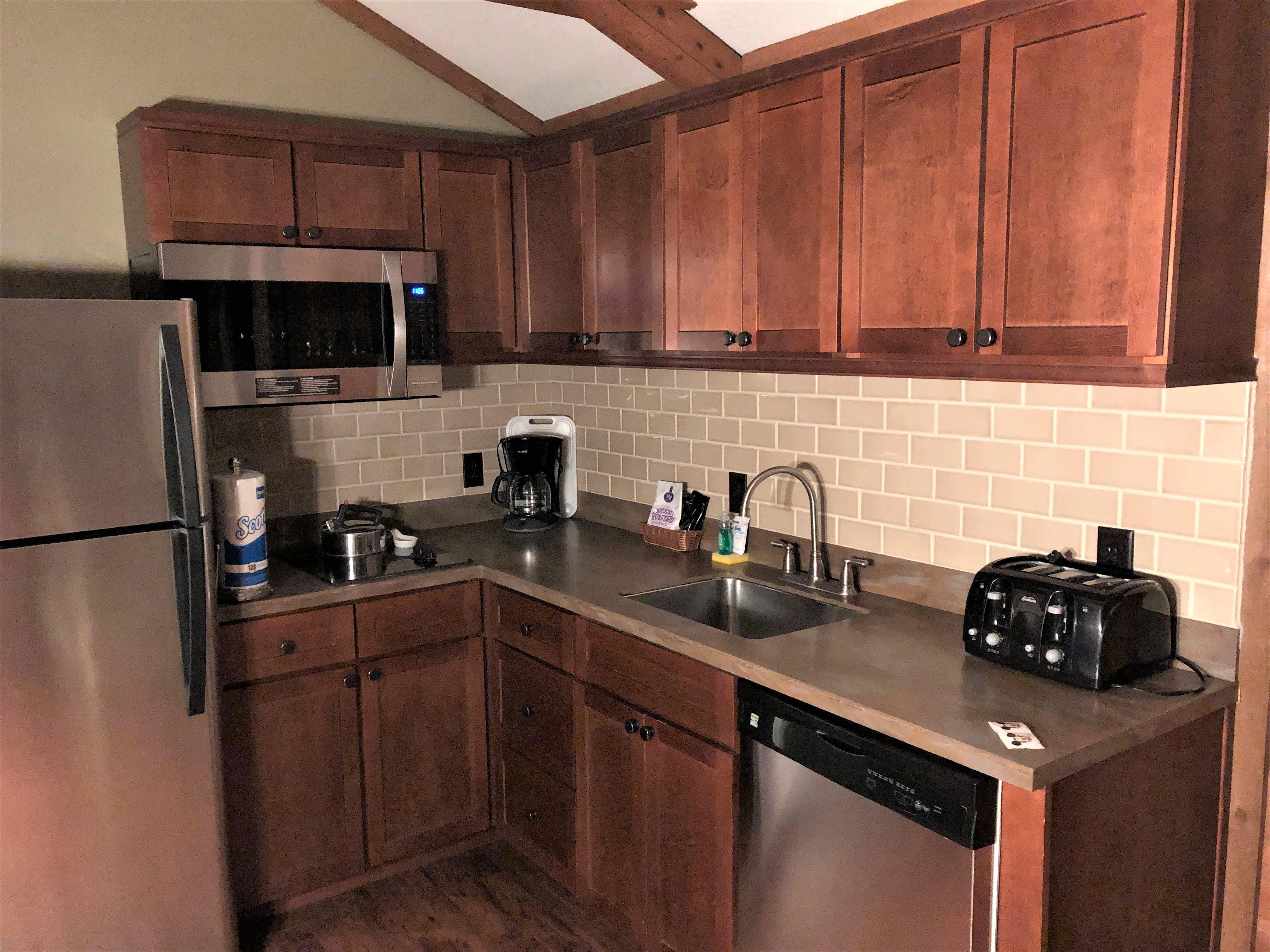 kitchen in fort wilderness cabin