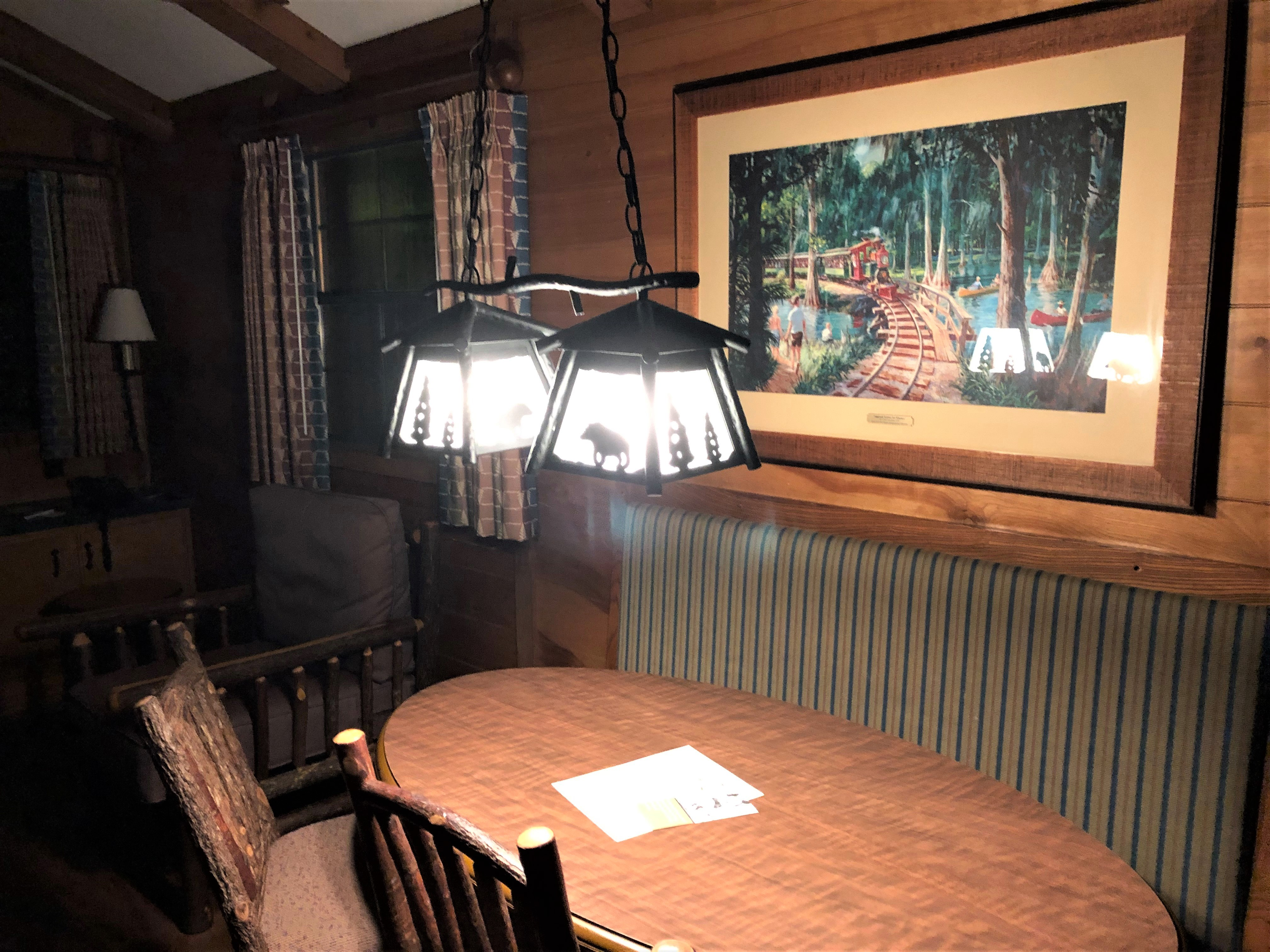 dining area in fort wilderness cabin