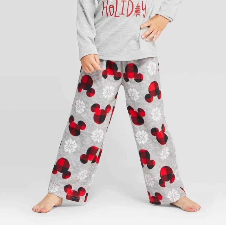 mickey fleece pajama pants