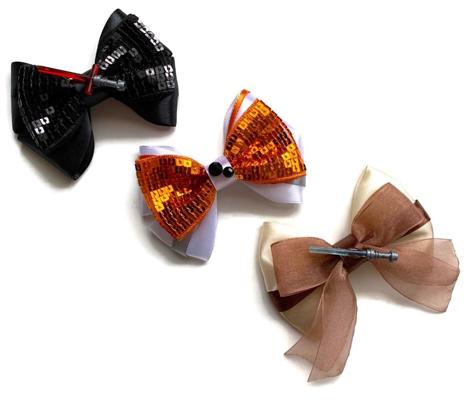 star wars themed hair bows