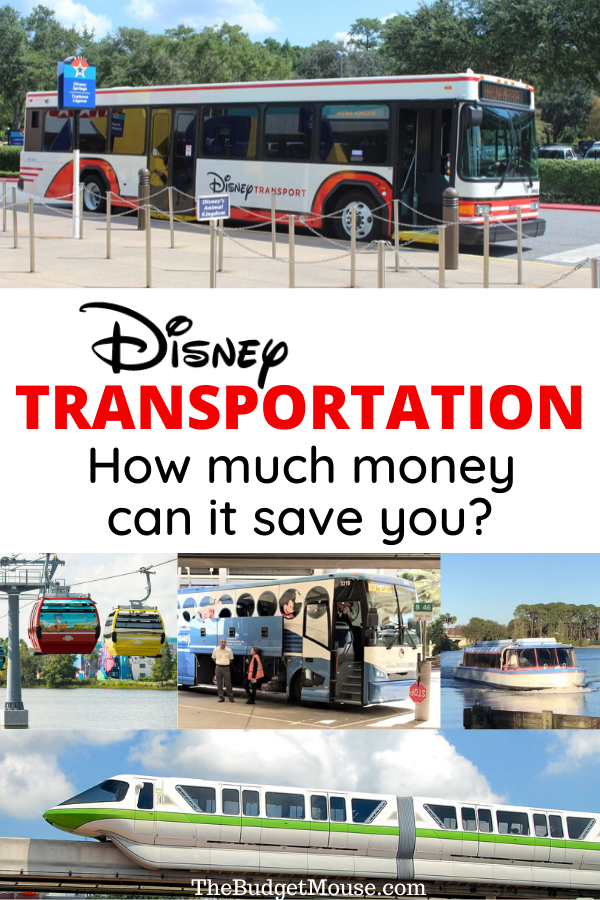 Disney transportation how much money can it save you pinterest image