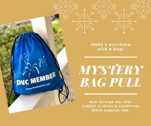 DVC member mystery bag pull promotion