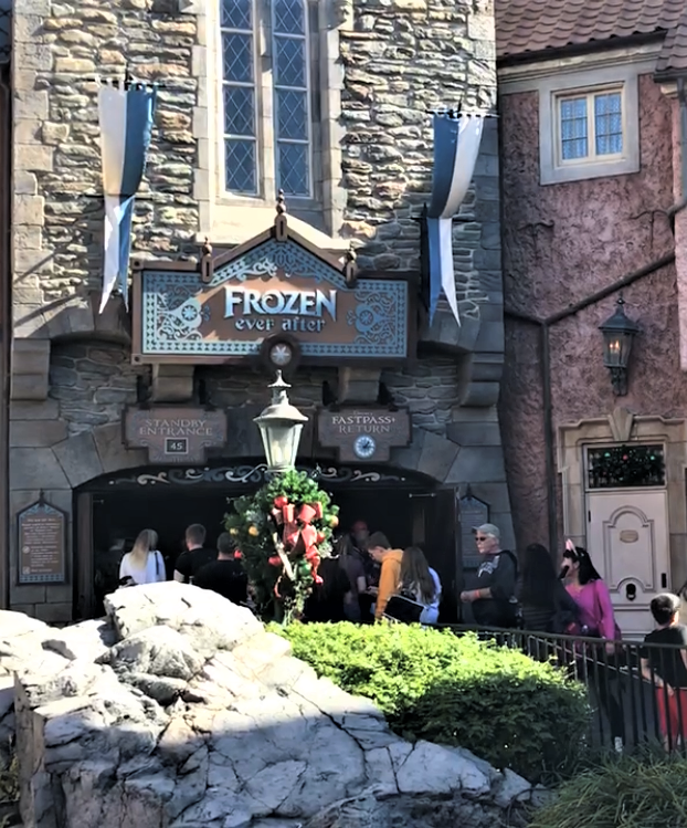 frozen ever after entrance - epcot fastpass