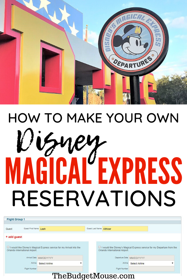 How To Make Your Own Disney magical express reservations