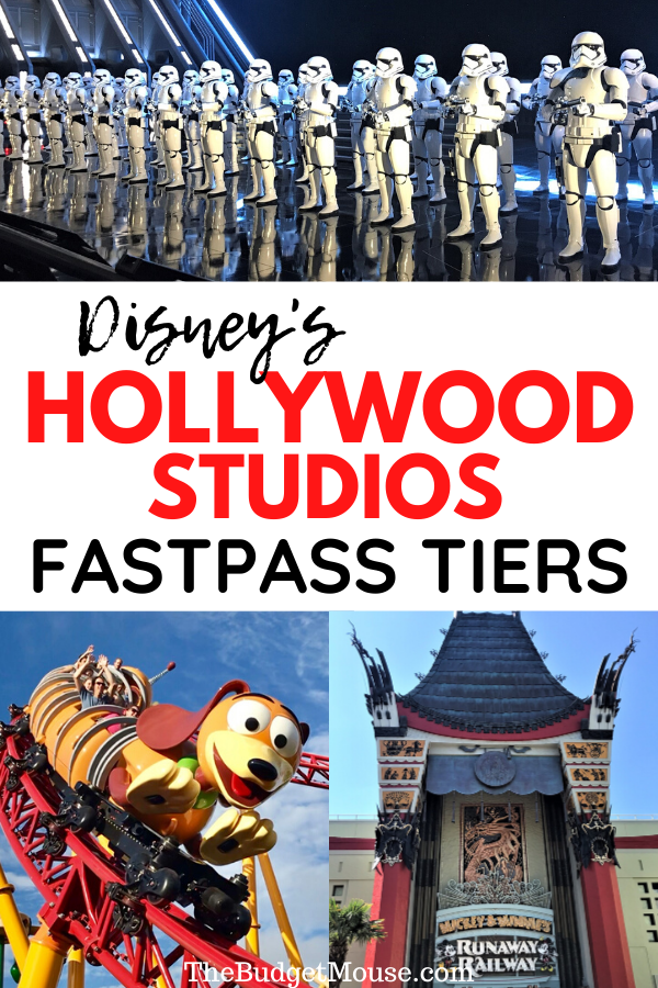 Disney's Hollywood Studios Fastpass Tiers Pinterest image