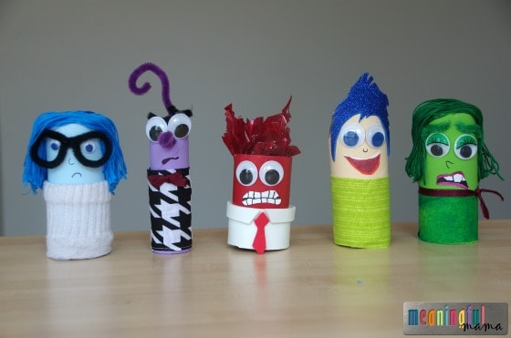 Inside Out Themed Toilet Paper Roll Craft