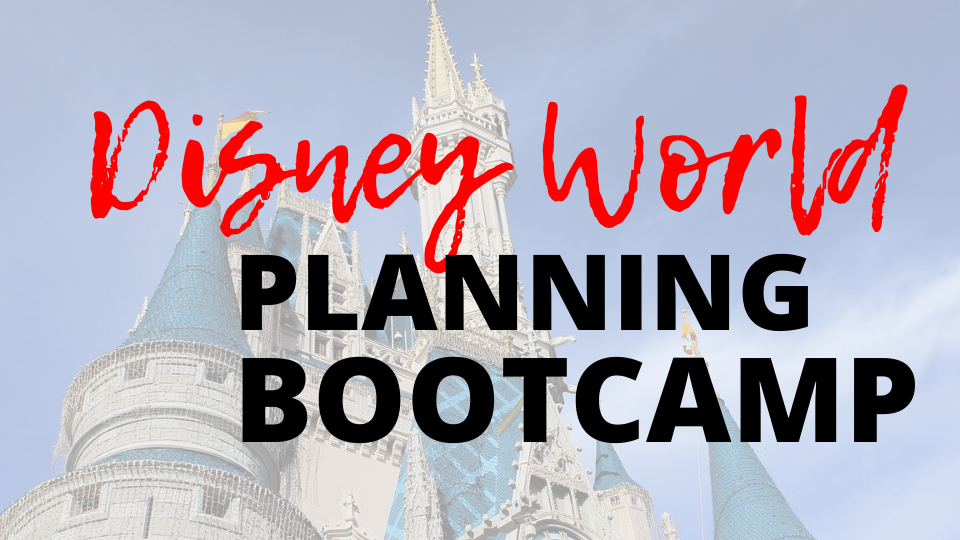 Disney World Planning Bootcamp pinterest image