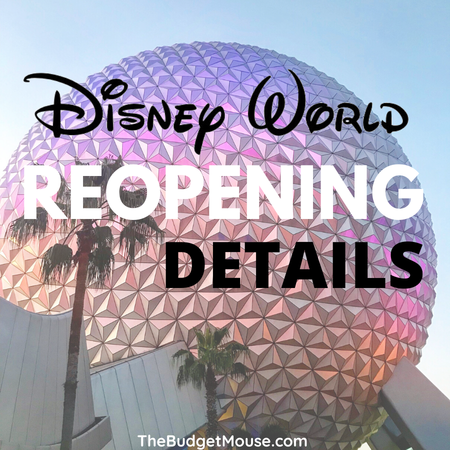 disney world reopening dates and details pin image