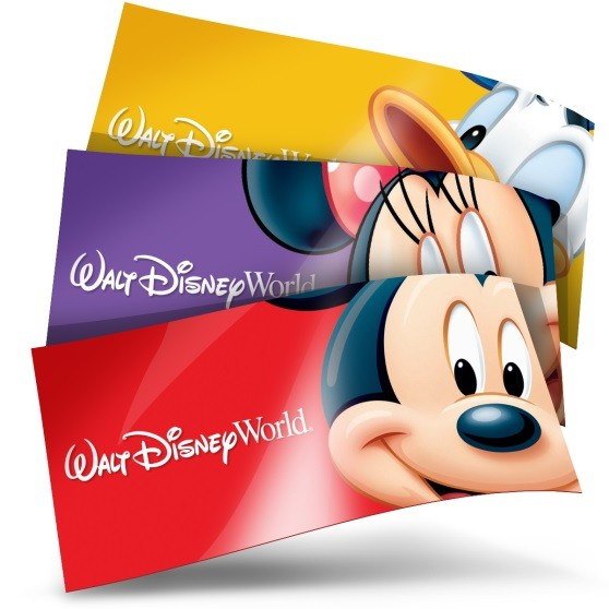 sample disney world tickets