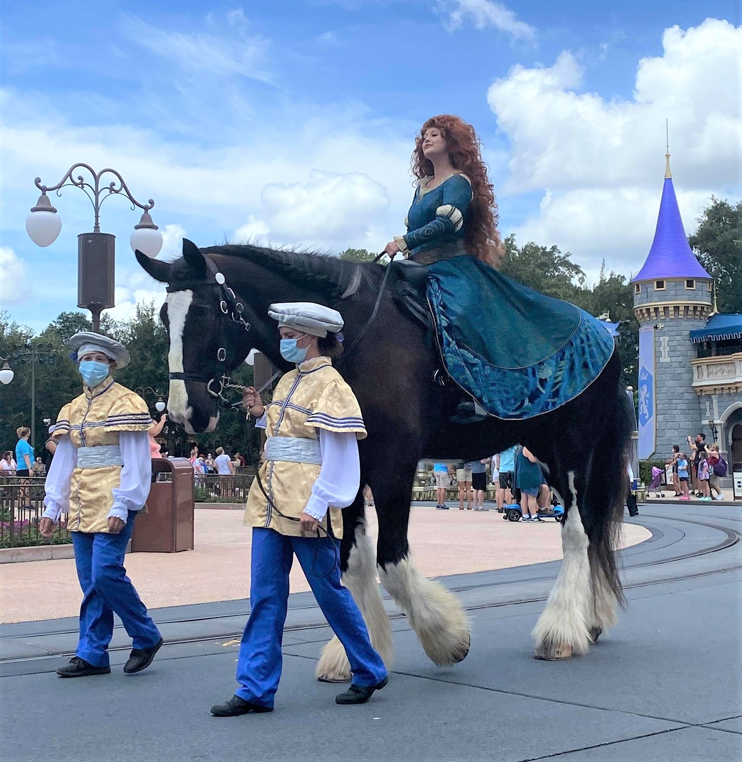 merida riding a horse in magic kingdom