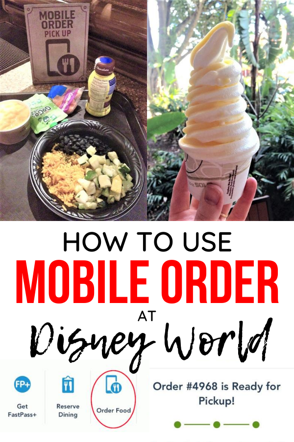 how to use mobile order at disney world pin image