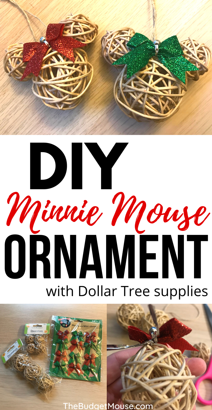 DIY minnie mouse ornament pin