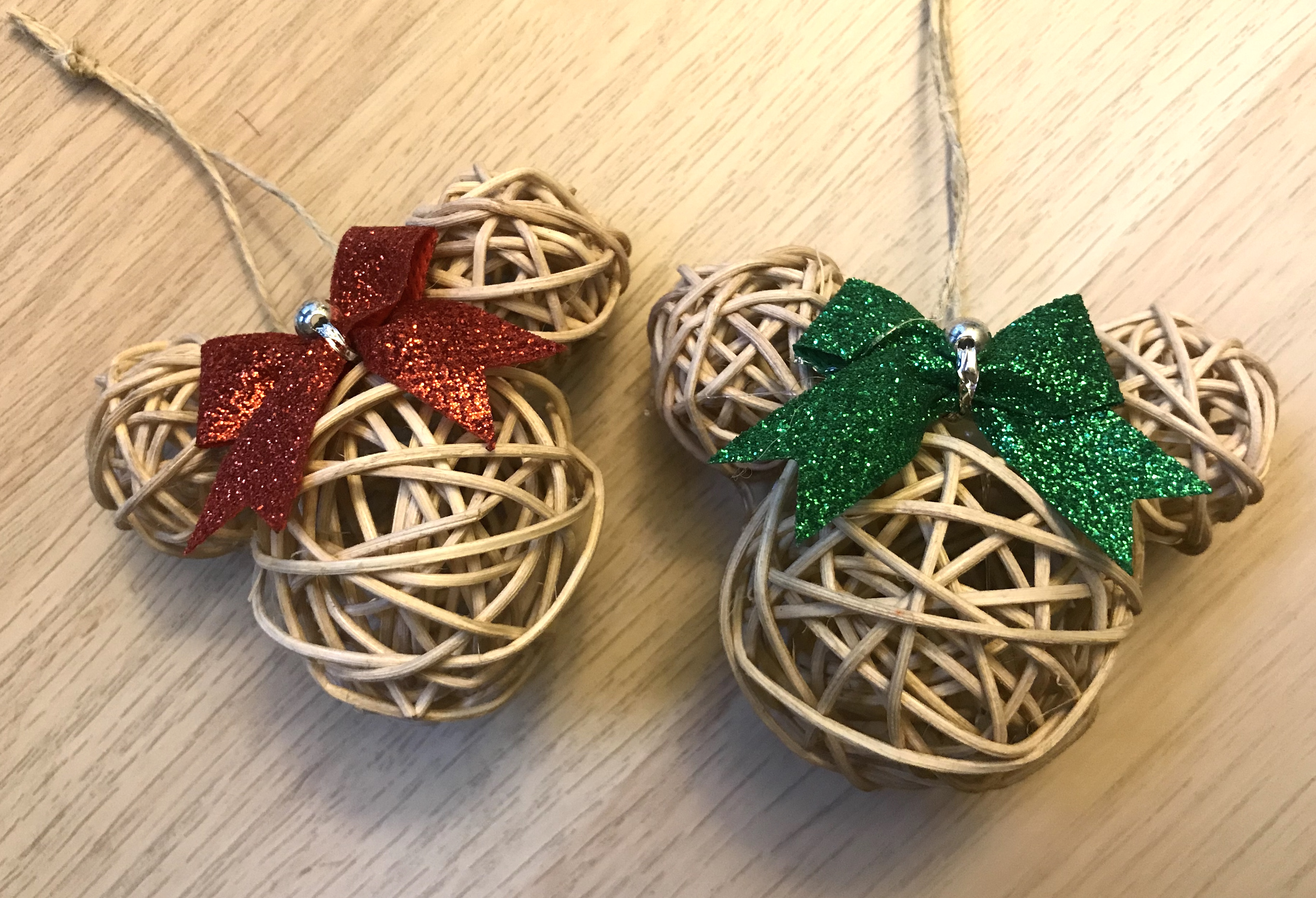 homemade minnie mouse christmas ornaments